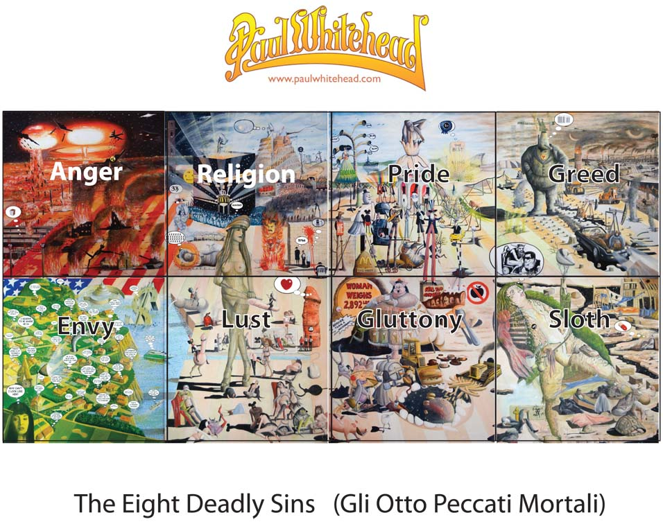 8 Deadly Sins by Paul Whitehead